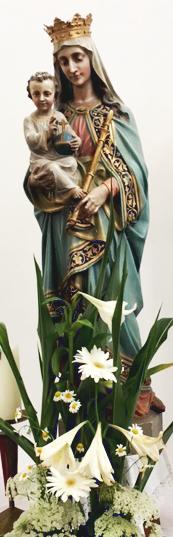 Hochzeit in St. Johannes: Blumenschmuck für Maria © V. Gäbke (2018)