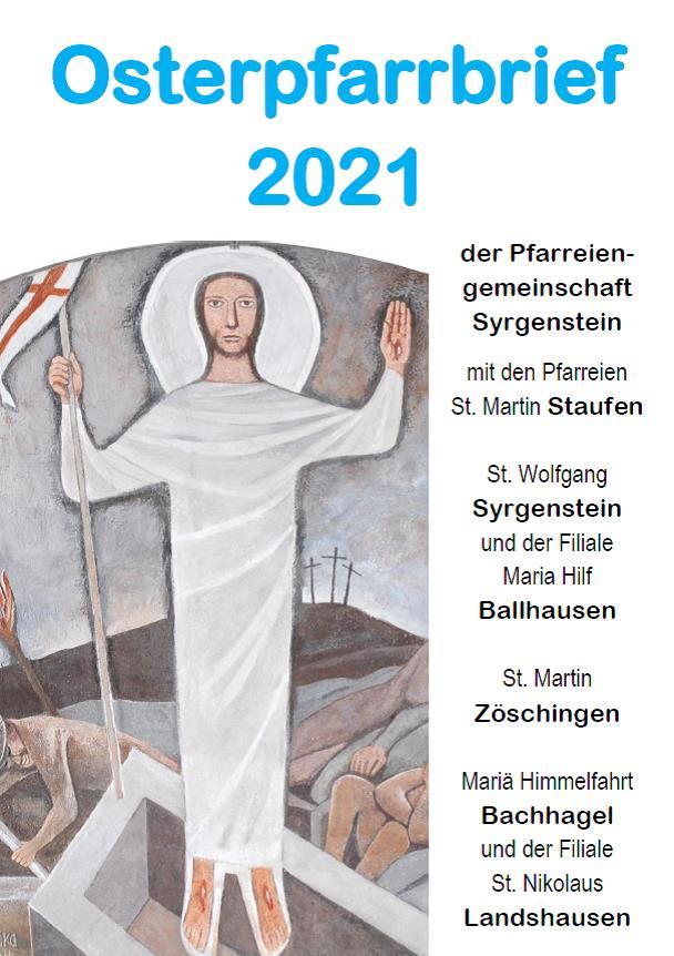 Pfarrbrief Ostern 2021